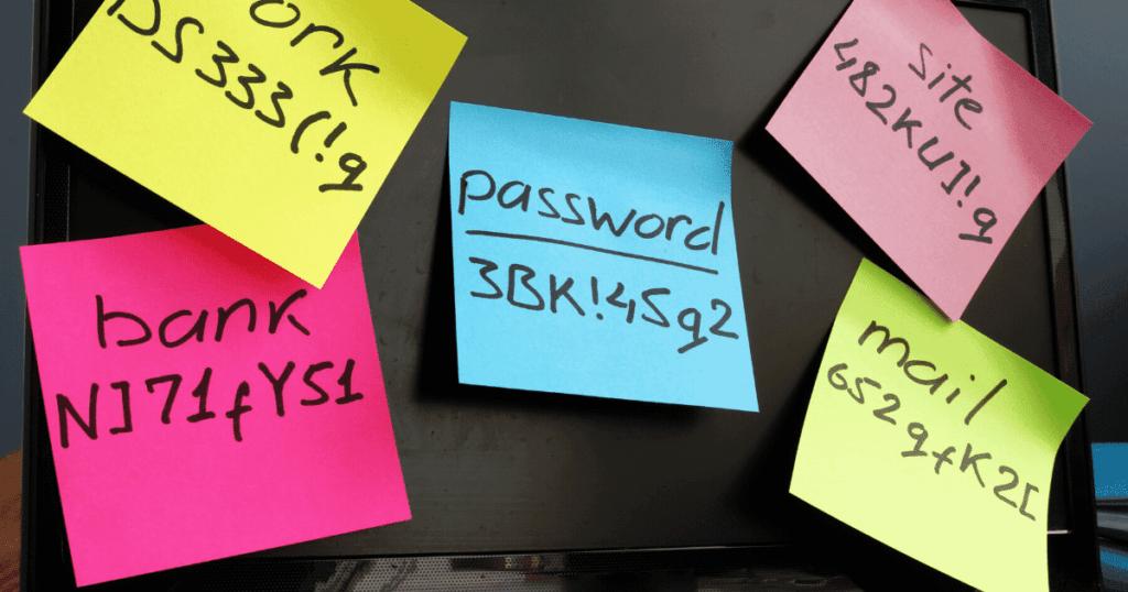passwort postits