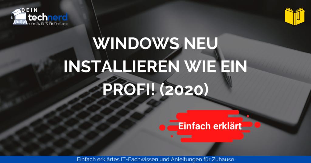 windows neu installieren wie ein profi - beitragsbild
